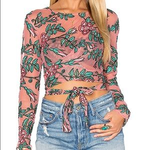 2X Host Pick! For Love & Lemons Orchid Crop Top